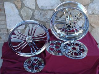Billet Wheels Parts Harley Softail Rigid Chopper Last 1 at This Price