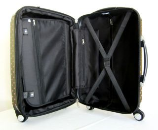 Piece Luggage Set Hard Rolling 4 Wheels Spinner Travel Bag Polka