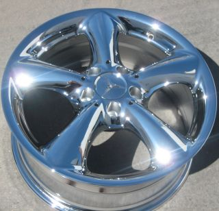 FACTORY MERCEDES C230 C320 CLK320 CHROME WHEELS RIMS EXCHANGE STOCK