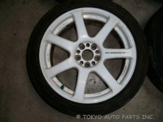 Work Emotion XT 7 Rim and Tire 5x100 WRX STI Audi VW Toyota Dodge JDM