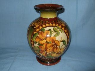 Stunning Doulton Lambeth Faience Art Pottery Vase H P A Euphemia