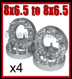 WHEEL ADAPTER SPACERS 1.5 8 6.5   8x6.5 Same 8 Lug Rim 14mm Studs 563