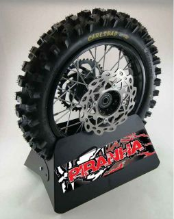 12 Piranha Pit Bike Rear Wheel Rim Tire Sprocket Disc