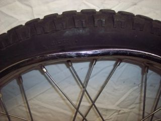 78 Honda XL175 XL 175 Enduro Front Tire Hub Rim Wheel