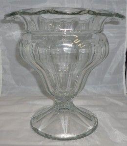 Antique Heisey Glass 352 aka No 4 Flat Panel Drop Flange Vase 9 RARE