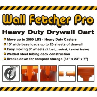 Pentagon Tool Professional Drywall Cart Dolly Utility Handling