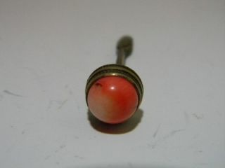 Fine Chinese Qing Period White Jade Antique Snuff Bottle Coral Stopper