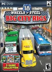 18 Wheels of Steel Big City Rigs PC DVD 3 Truck Driving Rig Simulation