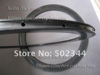 Carbon Road Bike Rim 60mm Clincher Carbon Rim