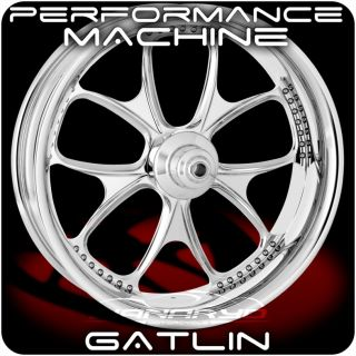 Performance Machine PM Gatlin Chrome Harley Wheels