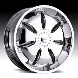 24 inch Milanni Paralyzer Chrome Wheels Rims 5x115 9