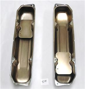 Chrome Steel Baffled Valve Covers Chrysler Dodge 383 400 440 Mopar