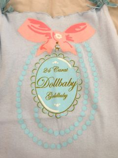 Wheels Dollbaby Sky Blue Singlet ♥ Top Vest Sleeveless Bow Tank Cami