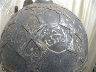 Indo Persian Islamic Demon Devil Face Battle Warrior Helmet Koran