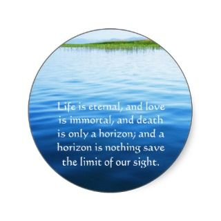 Poem About Death   Inspirational Grieving Quote Round Stickers