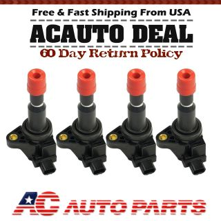 New Ignition Coil Pack 2007 2008 HONDA FIT 1.5L 4 Cyl Set of 4