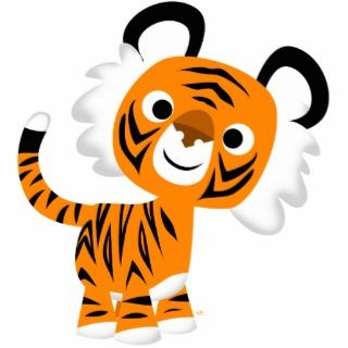 Cute Inquisitive Cartoon Tiger Photosculpture Photo Cut Out