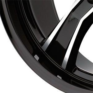 New 18X8 5 112 Airstrike Gloss Black Machined Wheels/Rims