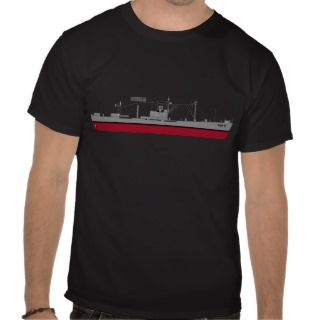 US Navy   USS Tracer AGR 15   Color Silhouette T Shirts