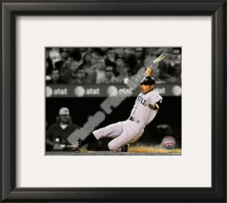 Ichiro Suzuki 2010 Spotlight Action Framed Photographic Print at Art