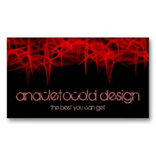 fractal red fire bussiness card business card template