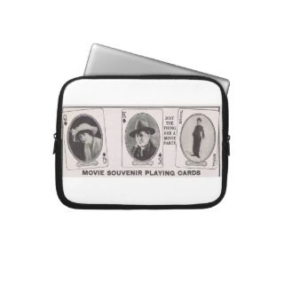 Charlie Chaplin 1917 Joker card electronics bag Laptop Sleeve