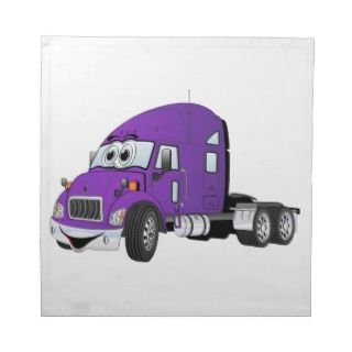 Semi Truck Cab Purple Napkins
