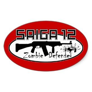 Saiga 12   Zombie Defense Sticker