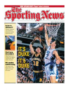 Duke Blue Devils Christian Laettner   National Champions   April 13, 1992 Premium Poster
