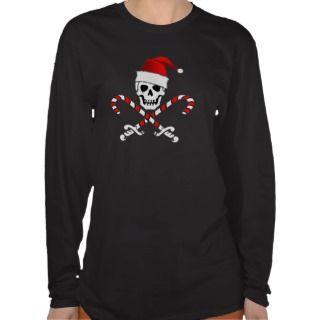 Pirate Christmas Jolly Roger T Shirt