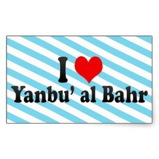 Love Yanbu al Bahr, Saudi Arabia Rectangle Stickers