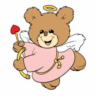 cute little valentine cupid teddy bear design photo cut out