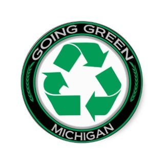 Going Green Recycle Michigan Stickers
