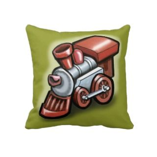 Toy Train Pillows