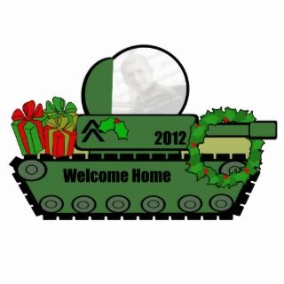 Military Tank Welcome Home Photo Decoration Photo Sculpture