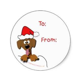 Christmas Dog Gift Tag Stickers