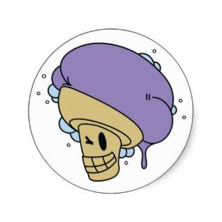 Ubes Icecream Shop Logo Sicker