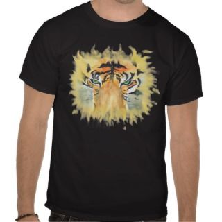 Green eyed Tiger T Shirts