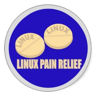 LINUX PAINKILLER PILLS STICKER