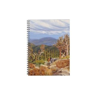Guanella Pass Oil Landscape Painting Spiral Note Book