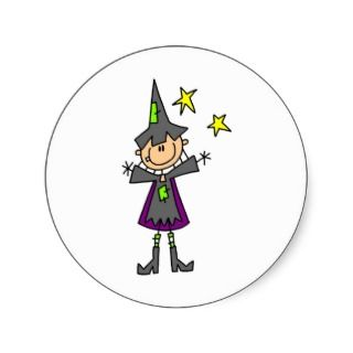 Stick Figure Witch Stickers