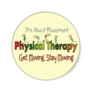 Physical Therapy Products and Gifts Stickers