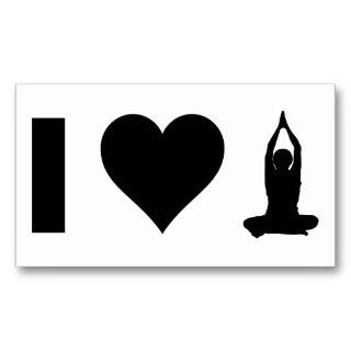 Love Yoga Business Cards