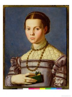 Portrait of a Young Girl Holding a Book c.1545 Giclee Print by Agnolo Bronzino