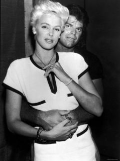 Brigitte Nielsen Being Hugged by Boyfriend, Football Player Mark Gastineau Premium Photographic Print