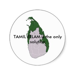 TAMIL EELAM is the only solution Sticker