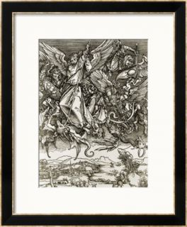 St. Michael Fighting the Dragon Pre made Frame