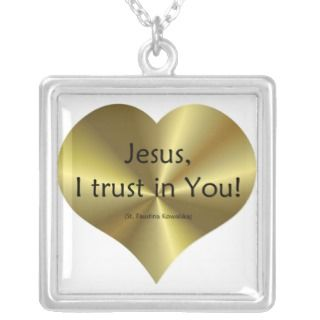 Divine Mercy   Jesus I trust in You  Custom Jewelry