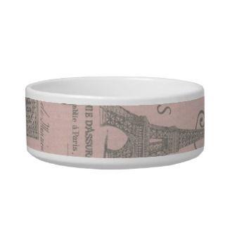 modern pink vinage paris eiffel ower pe bowl