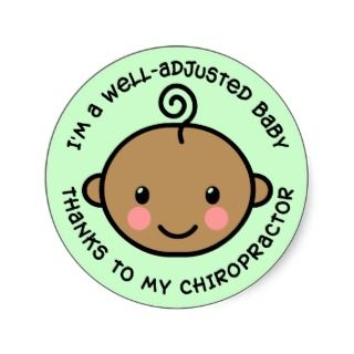 Well Adjusted Baby Chiropractic Stickers